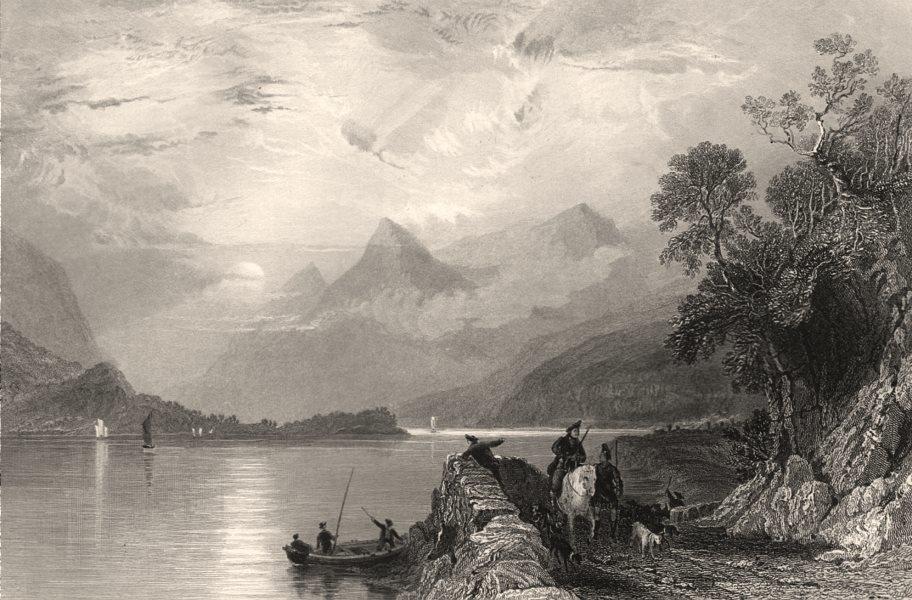 Associate Product Loch Leven from Ballachulish Ferry. Argyllshire. Scotland. ALLOM c1840 print