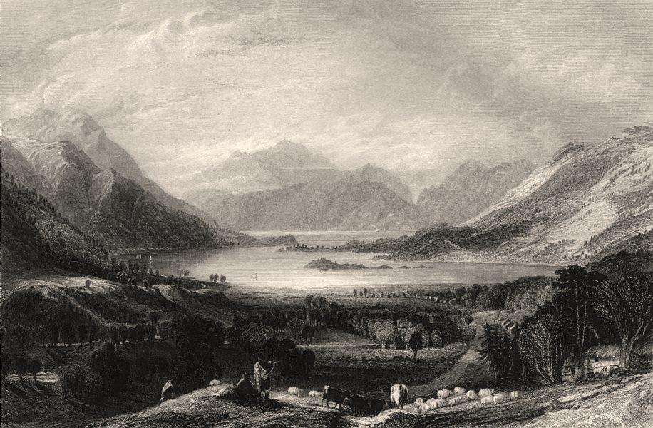 Associate Product Loch Leven, looking towards Ballachulish Ferry. Scotland. ALLOM c1840 print