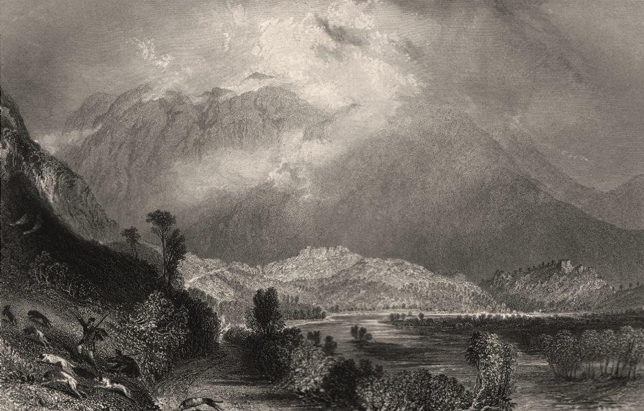 Associate Product Glencoe from the west. Lochaber, West Highlands. Scotland. ALLOM c1840 print