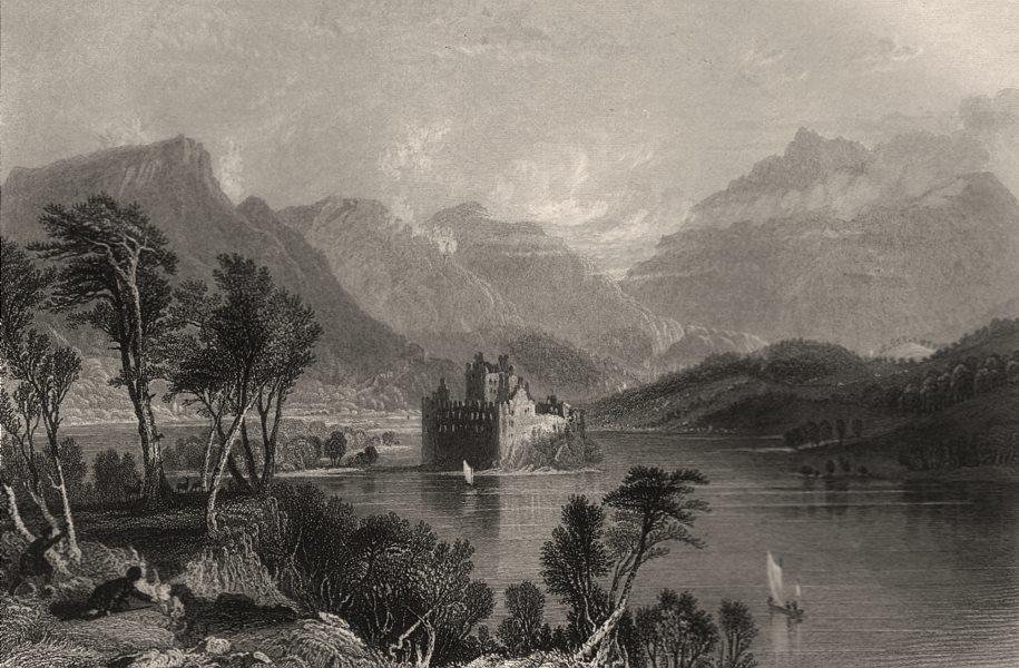 Kilchurn Castle, Loch Awe, towards Dalmally. Argyllshire. Scotland. ALLOM c1840