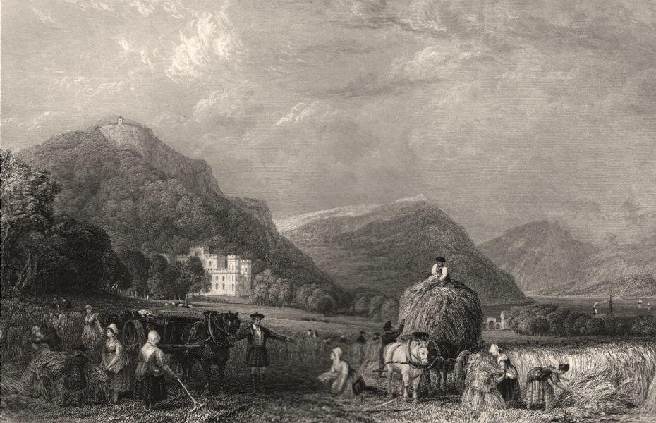 Associate Product Inveraray Castle. Scotland. ALLOM c1840 old antique vintage print picture
