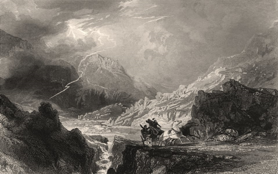 Associate Product Glen Croe between Loch Long and Cairndow. Scotland. ALLOM c1840 old print