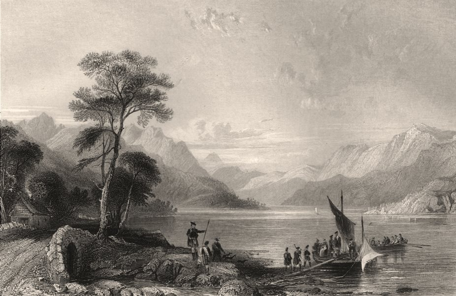 Associate Product Loch Lomond from below Tarbet. Dunbartonshire. Argyll & Bute. ALLOM c1840