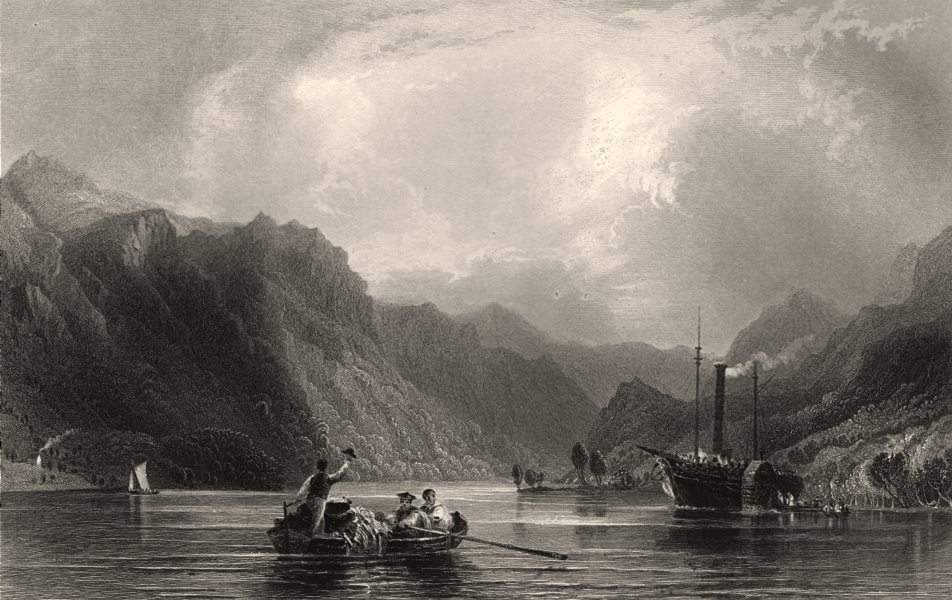 Associate Product The head of Loch Lomond, looking south. Scotland. ALLOM c1840 old print