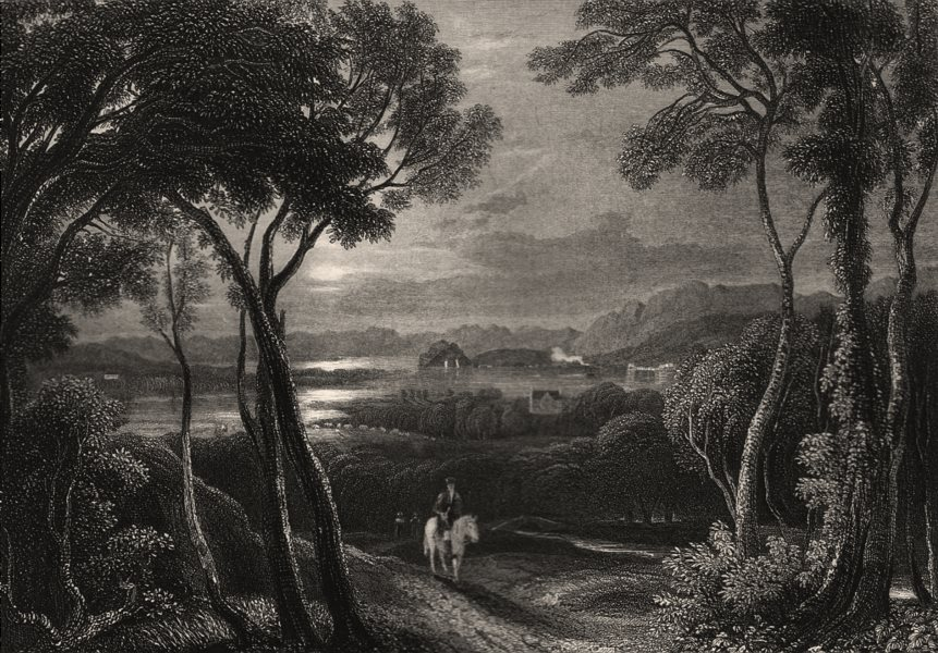 Associate Product The Clyde, with Dumbarton Castle in the distance. Scotland. MCCULLOCH c1840