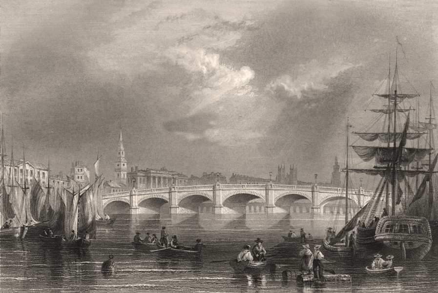 Associate Product New (Glasgow/Jamaica) Bridge and Broomielaw, Glasgow. Scotland. BARTLETT c1840