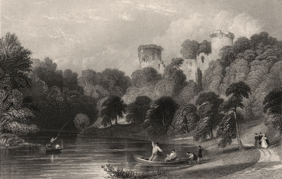 Associate Product Bothwell Castle on the Clyde. Lanarkshire. Scotland. ALLOM c1840 old print