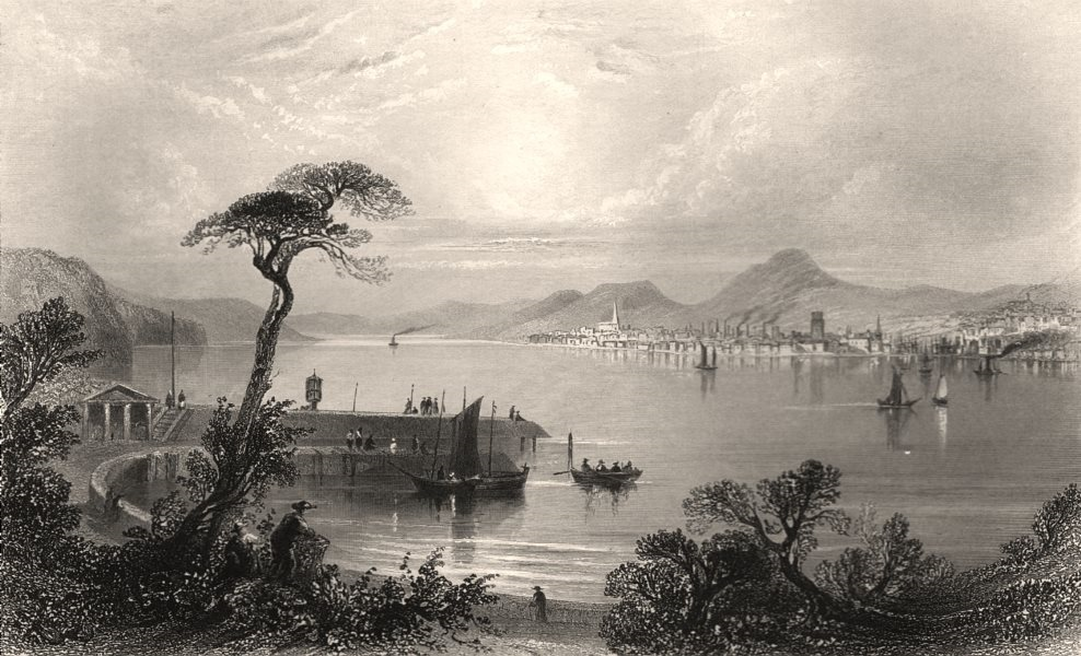 Associate Product Dundee, from the opposite side of the Tay. Scotland. BARTLETT c1840 old print