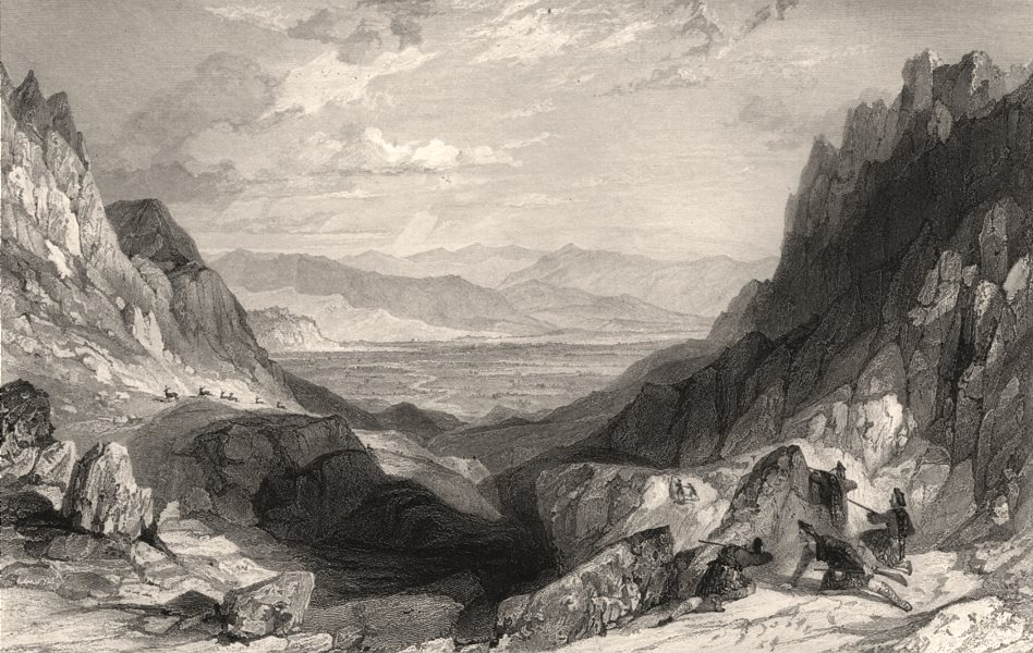 Associate Product The Cairn Gorm Pass, towards Aviemore. Inverness-shire. Cairngorm. ALLOM c1840
