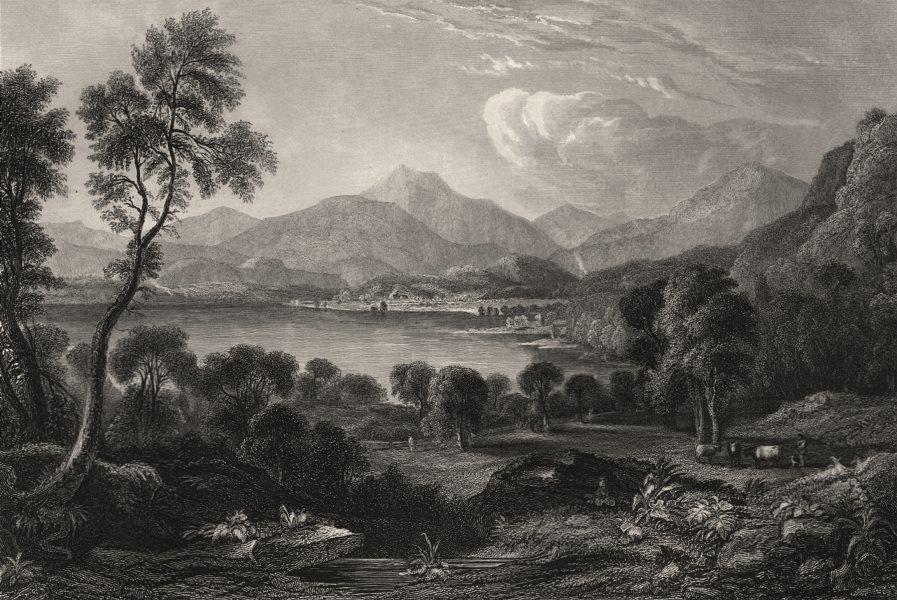 Associate Product Loch Vennachoir (Vanachar), Trossachs, Scotland. FLEMING 1868 old print