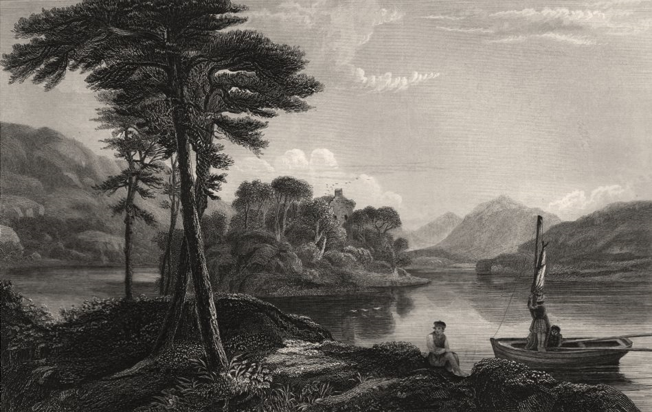 Associate Product Loch Awe. Scotland. FLEMING 1868 old antique vintage print picture