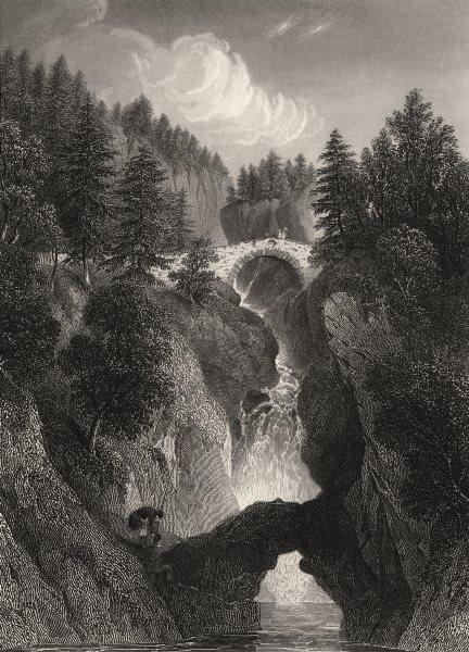Associate Product Falls of the Bruar, near Blair Atholl. Scotland. DONALDSON 1868 old print