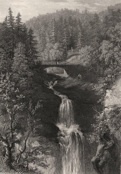Associate Product The upper Fall of Moness, Birks of Aberfeldy. Scotland. HOUSTON 1868 old print