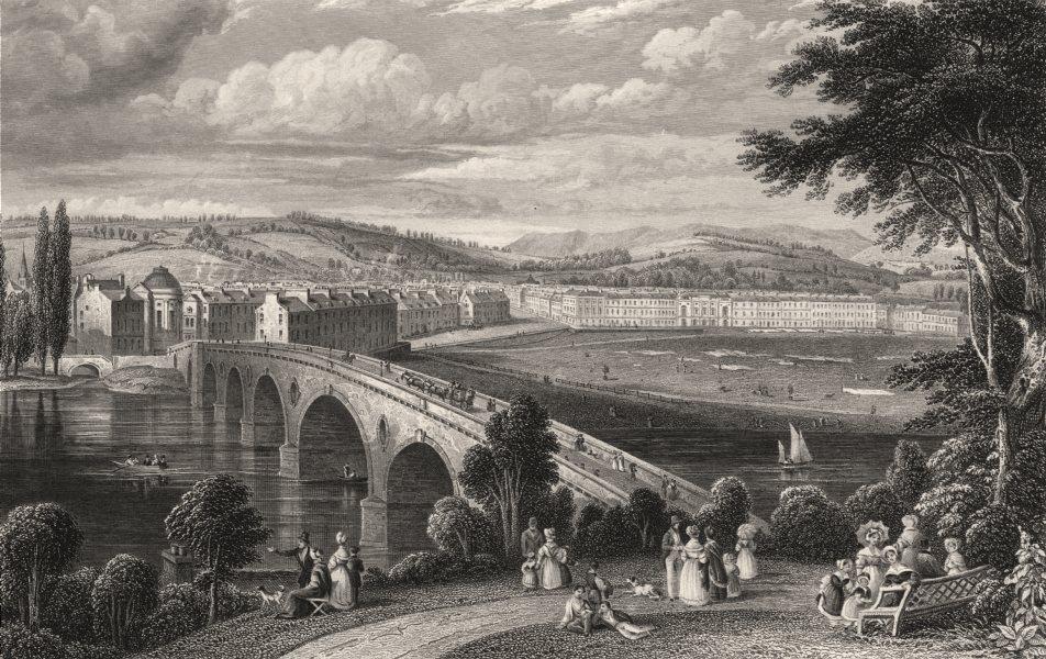 Associate Product Perth Bridge & North Inch, Scotland. STEWART 1868 old antique print picture