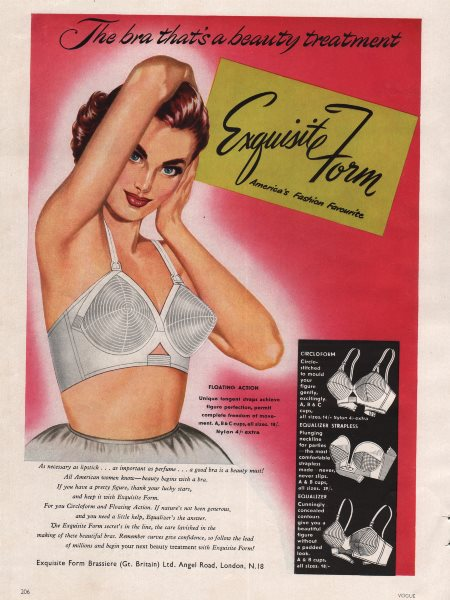 Associate Product Exquisite Form. America's fashion favourite. Bra. Advert 1955 old print