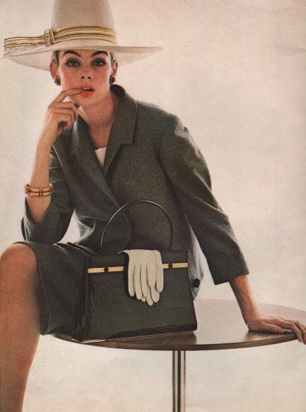 David Bailey fashion photo. Simpson Flannel. Otto Lucas hat. BRITISH VOGUE 1963