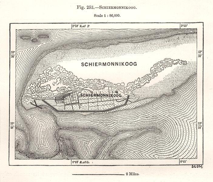 Associate Product Schiermonnikoog. Netherlands. Sketch map 1885 old antique plan chart