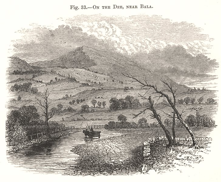 Associate Product On the Dee, near Bala. Wales 1885 old antique vintage print picture