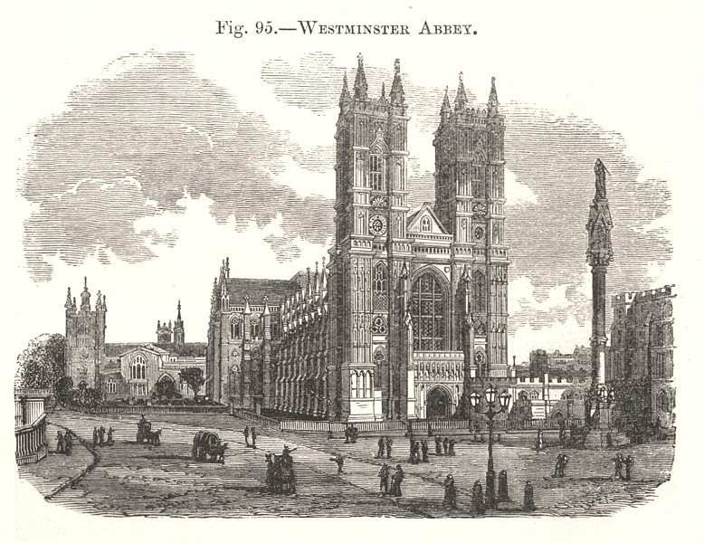 Associate Product Westminster Abbey. London 1885 old antique vintage print picture
