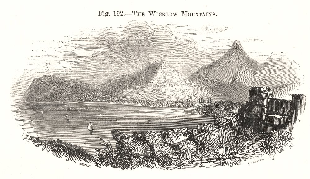 The Wicklow Mountains. Ireland 1885 old antique vintage print picture