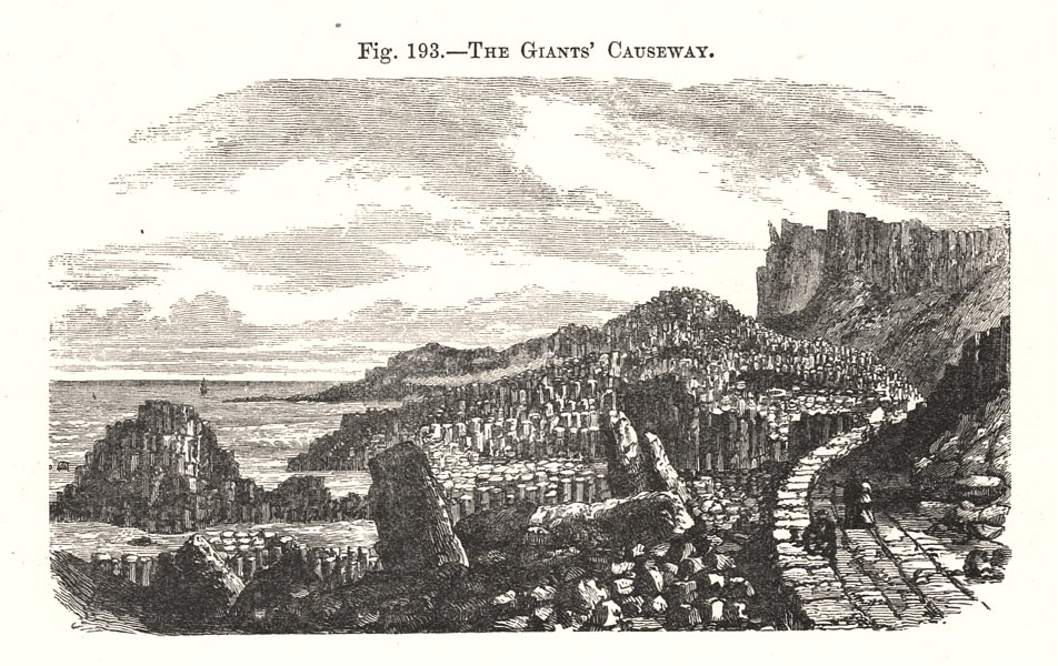 Associate Product The Giants' Causeway. Ulster 1885 old antique vintage print picture