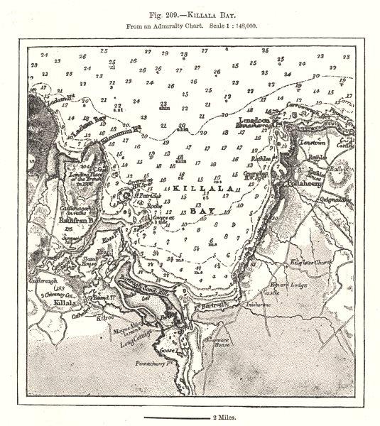 Associate Product Killala Bay from an Admiralty Chart. Soundings. Ireland. Sketch map 1885
