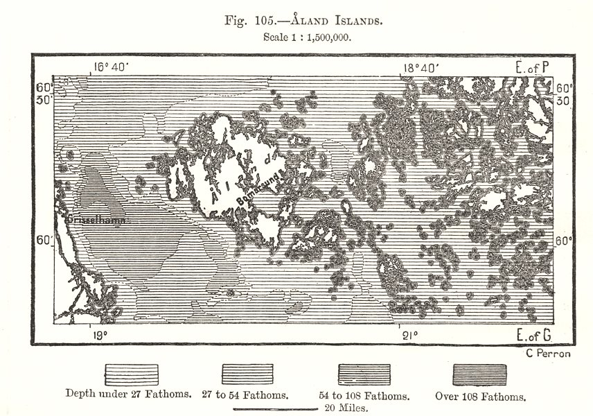 Associate Product Aland Islands. Finland. Bomarsund. Sketch map 1885 old antique plan chart