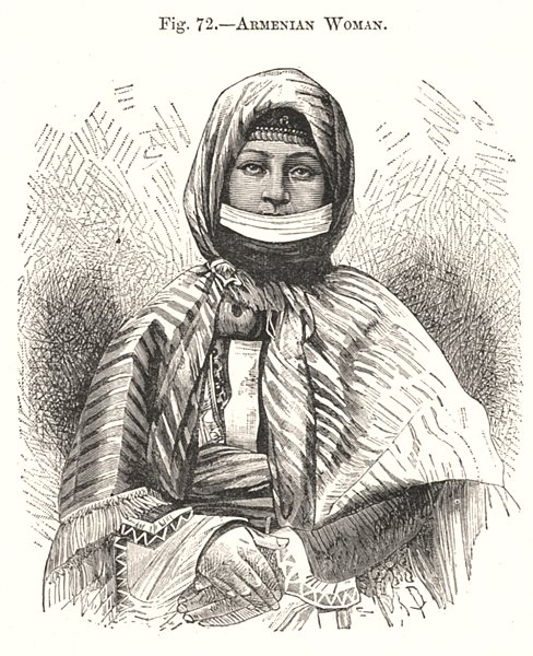 Associate Product Armenian Woman 1885 old antique vintage print picture