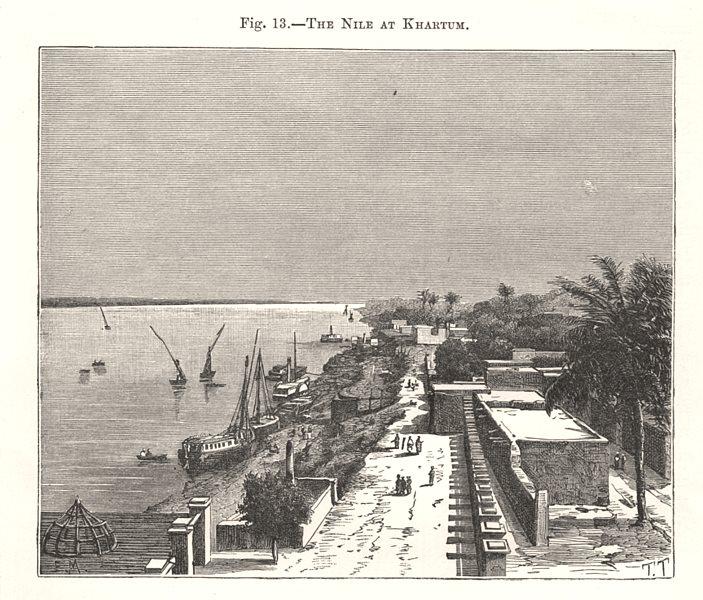 Associate Product The Nile at Khartoum. Sudan 1885 old antique vintage print picture
