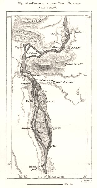 Associate Product Dongola and the Third Cataract. Sudan. Sketch map 1885 old antique chart