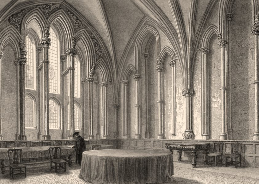 Associate Product The Chapter House, Oxford, by John Le Keux 1837 old antique print picture