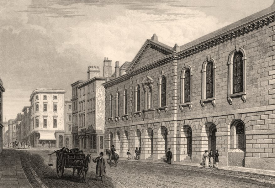 Associate Product The Town Hall, Oxford, by John Le Keux 1837 old antique vintage print picture