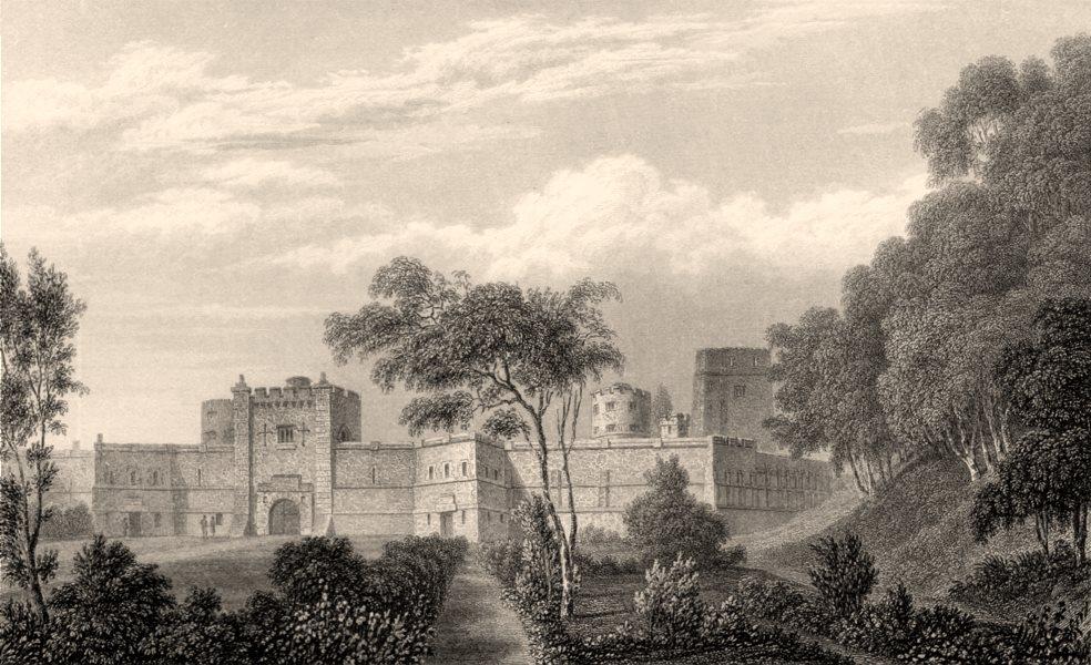 Associate Product The Castle, Oxford, by John Le Keux 1837 old antique vintage print picture
