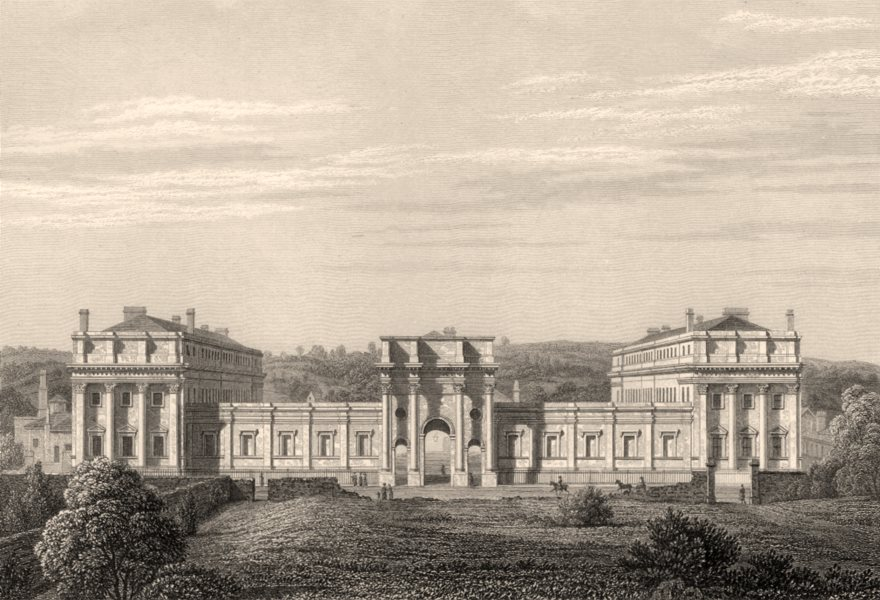 Associate Product The University Printing House, from the Infirmary, Oxford, by John Le Keux 1837