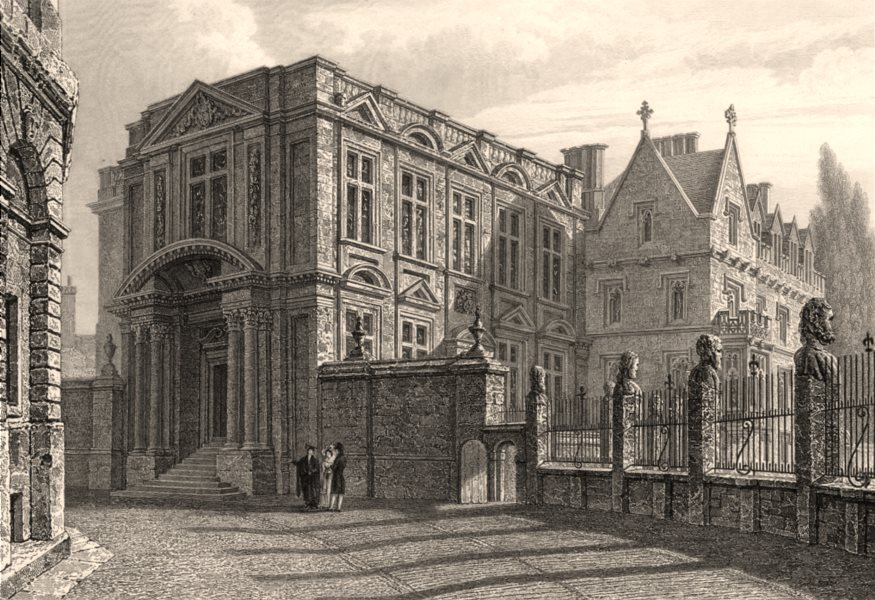 Associate Product The Ashmolean Museum, Oxford, by John Le Keux 1837 old antique print picture