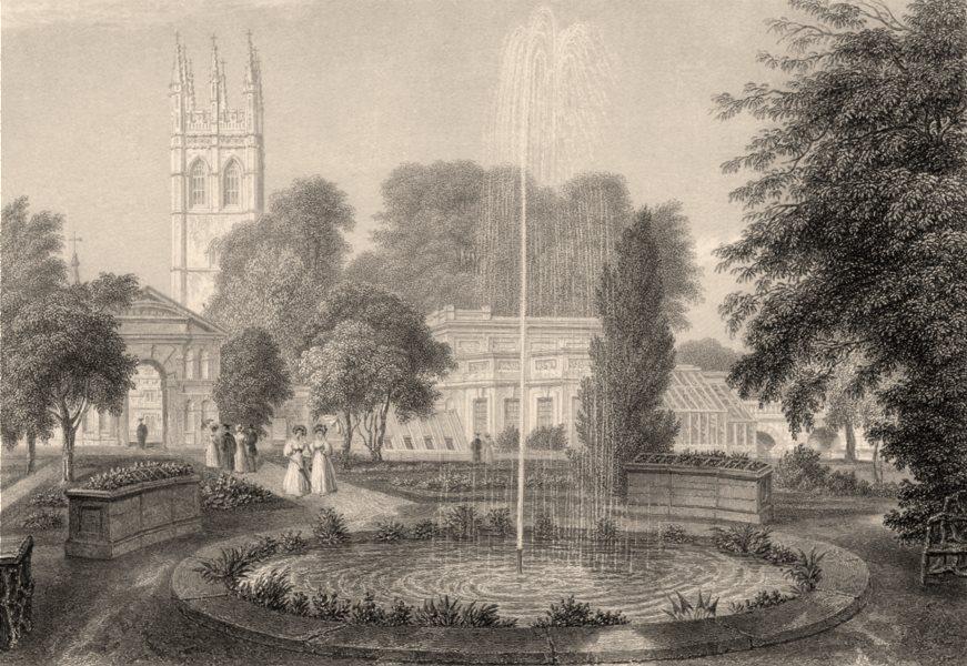 Associate Product The Botanic Garden, Oxford, by John Le Keux 1837 old antique print picture