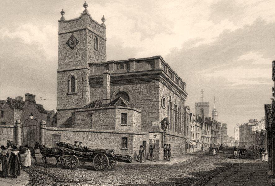 Associate Product St Peter le Bailey, Oxford, by John Le Keux 1837 old antique print picture