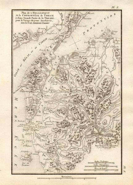 "Associate Product DARDANELLES & TROAD. ""Plan de L'Hellespont…"". Gallipoli. TARDIEU 1832 old map"