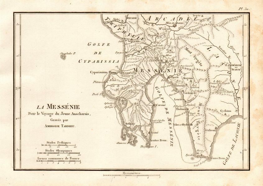 Associate Product MESSENIAN GULF. Ancient Greece. Messénie. Mani peninsula. TARDIEU 1832 old map