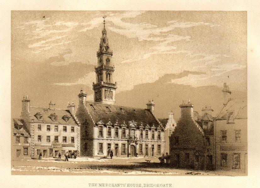 Associate Product The merchant's house, Bridgegate, Glasgow 1848 old antique print picture