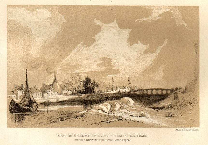 Associate Product View from the Windmill croft, looking eastward, about 1760, Glasgow 1848 print