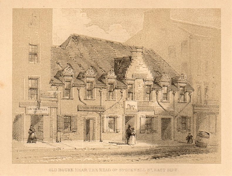 Associate Product Old house near the head of Stockwell St, east side, Glasgow. SMALL 1848 print