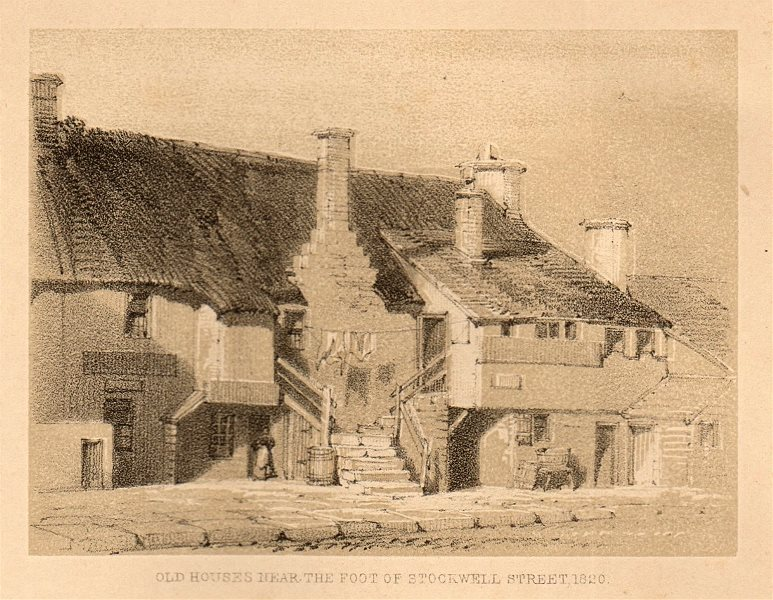 Associate Product Old house near the foot of Stockwell Street, 1820, Glasgow. SMALL 1848 print