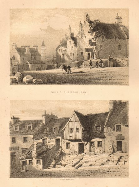 Associate Product Bell O' the Brae, 1820, Glasgow 1848 old antique vintage print picture