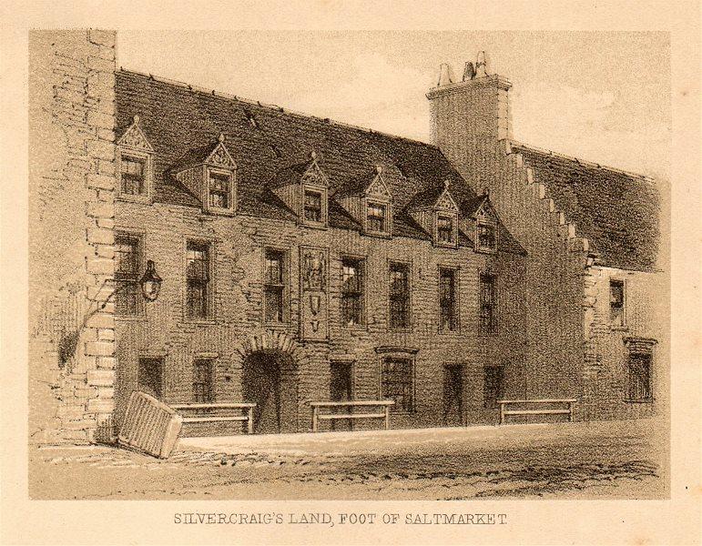 Associate Product Silvercraig's land, foot of Saltmarket, Glasgow. SMALL 1848 old antique print