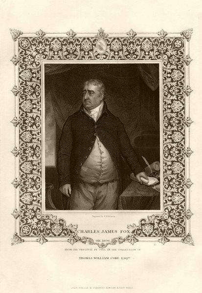 Associate Product Charles James Fox (1749-1806). TALLIS c1855 old antique vintage print picture