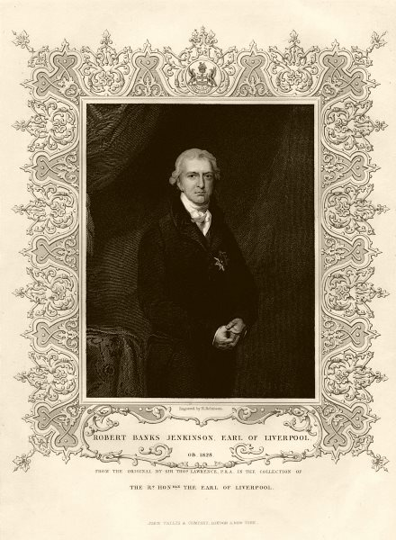 Associate Product Robert Banks Jenkinson, 2nd Earl of Liverpool (1770-1828), after Lawrence c1855