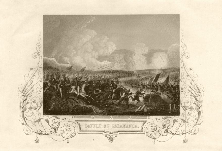 Associate Product The Battle of Salamanca (Arapiles), 1812. Spain. Peninsular War. TALLIS c1855