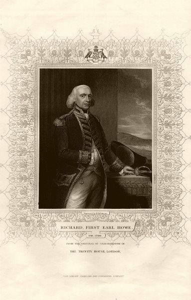 Associate Product Richard, First Earl Howe (1726-1799), after Gainsborough. TALLIS c1855 print
