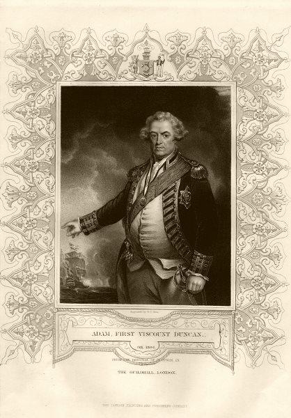 Associate Product Adam, 1st Viscount Duncan (1731-1804). After Hoppner. TALLIS c1855 old print
